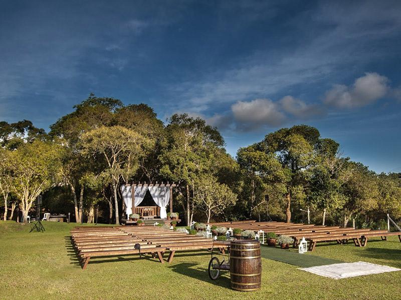 Locais para casamento ao ar livre em Curitiba Luz da Mata
