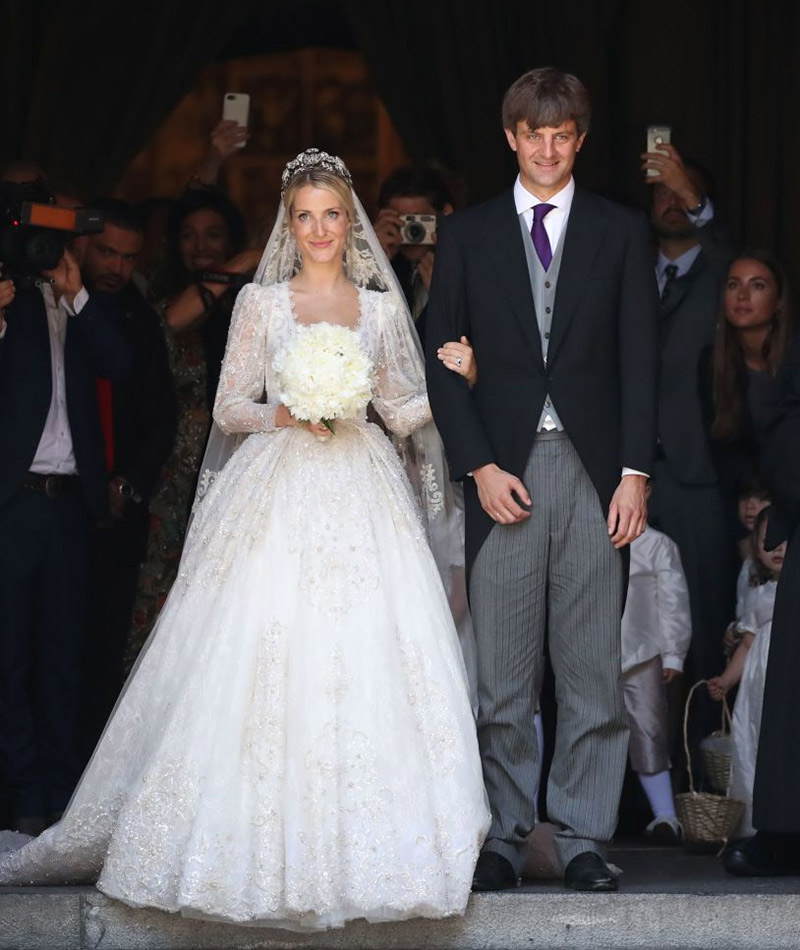 Casamento Ekaterina Malysheva e príncipe Ernst August vestido