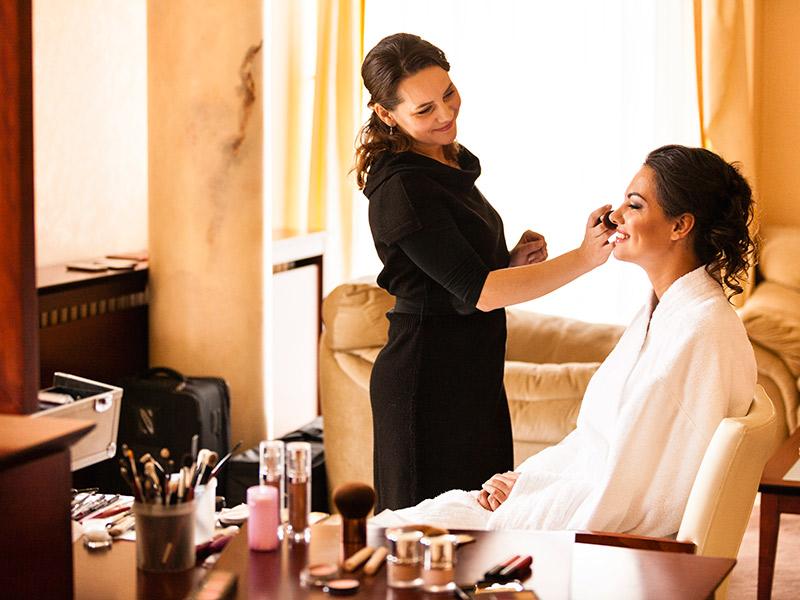 Evento iCasei Square teste de maquiagem