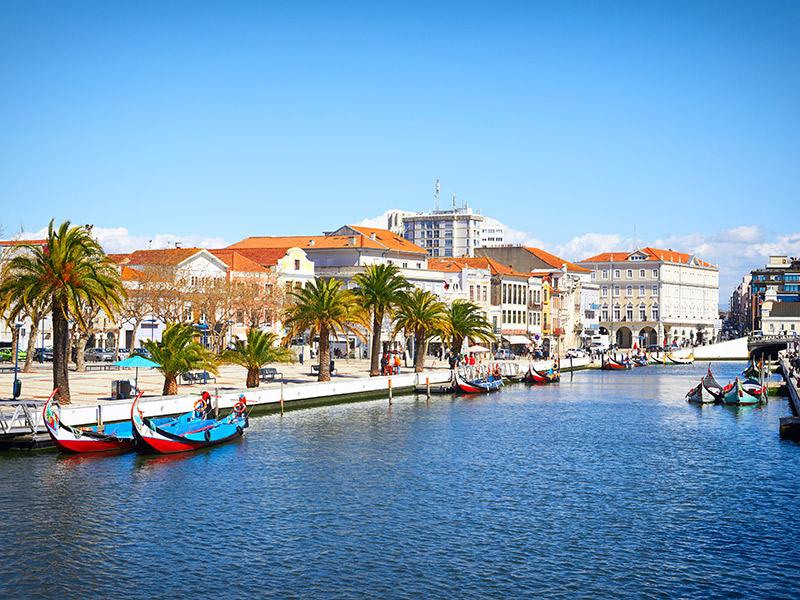Canal na cidade de Aveiro
