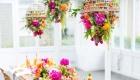 Decoração primavera/verão 2017 flores suspensas