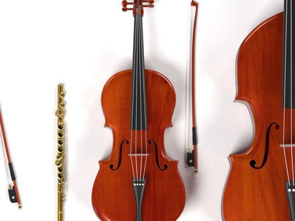 Instrumentos de música da banda para casamento
