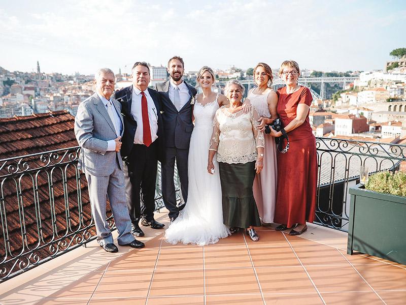 Casamento em Portugal Natalie e João Paulo familiares