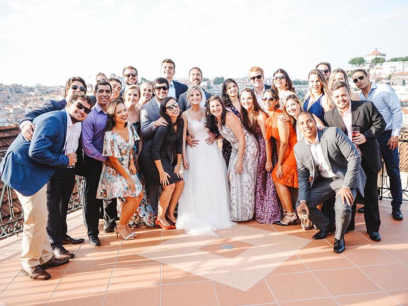 Casamento em Portugal amigos dos noivos