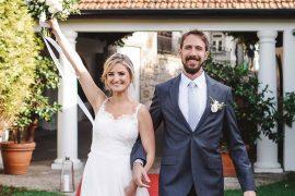 Casamento em Portugal entrada dos noivos na festa