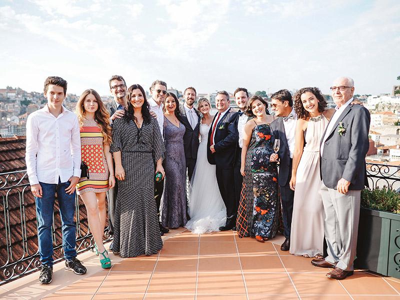 Casamento em Portugal família dos noivos