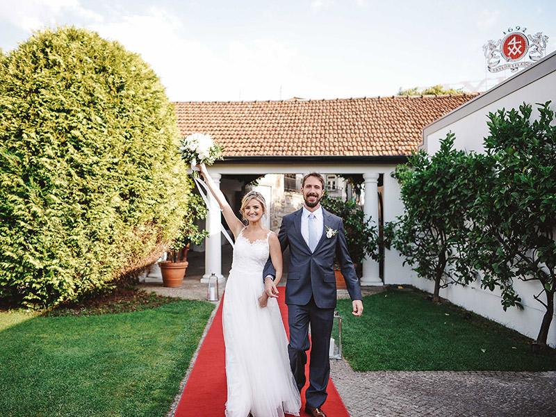 Casamento real Natalie e João entrada deles na festa
