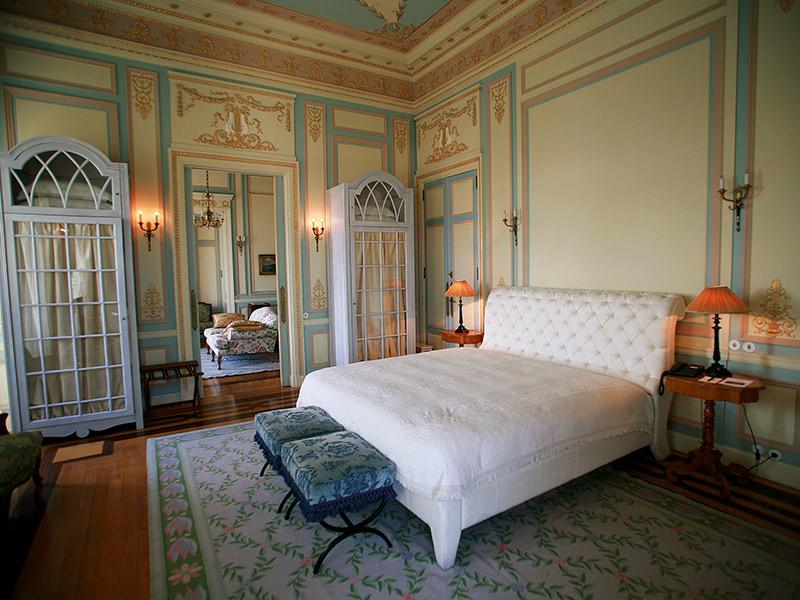 Lua de mel em Portugal quarto de hotel Pestana Palace
