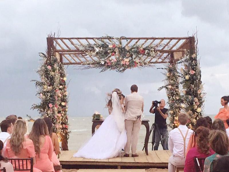 Casamento em Trancoso cerimônia na praia