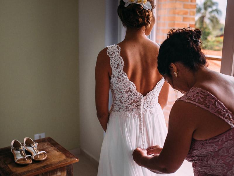 Casamento real Bruna e Filipe noiva se arrumando