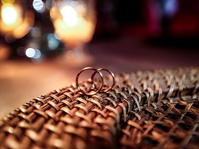 Casamento real Bruna e Thiago alianças