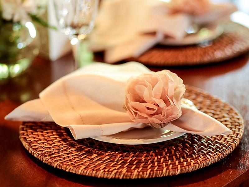 Casamento real Bruna e Thiago decoração da mesa