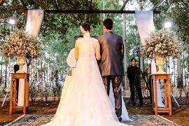 Casamento real Bruna e Thiago na cerimônia