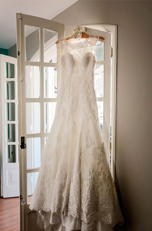 vestido de noiva para casamento no campo Nova Noiva