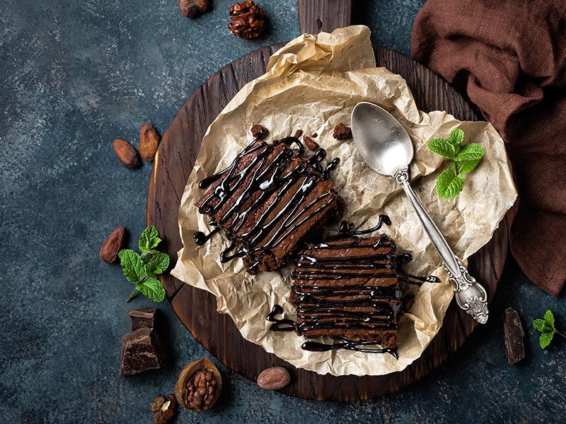 Decoração de mesa de doces brownie