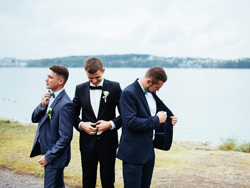 Organização de casamento traje do noivo e padrinhos