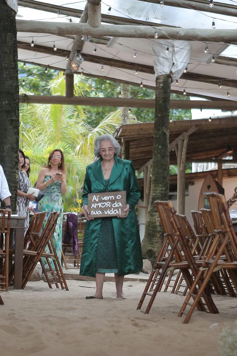 casamento na praia avó
