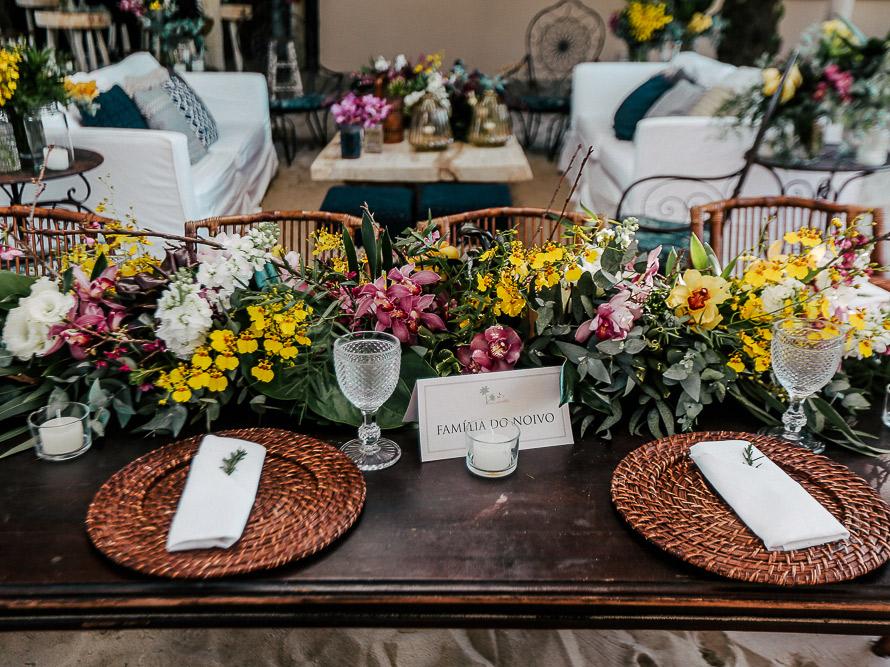 casamento na praia decoração da mesa