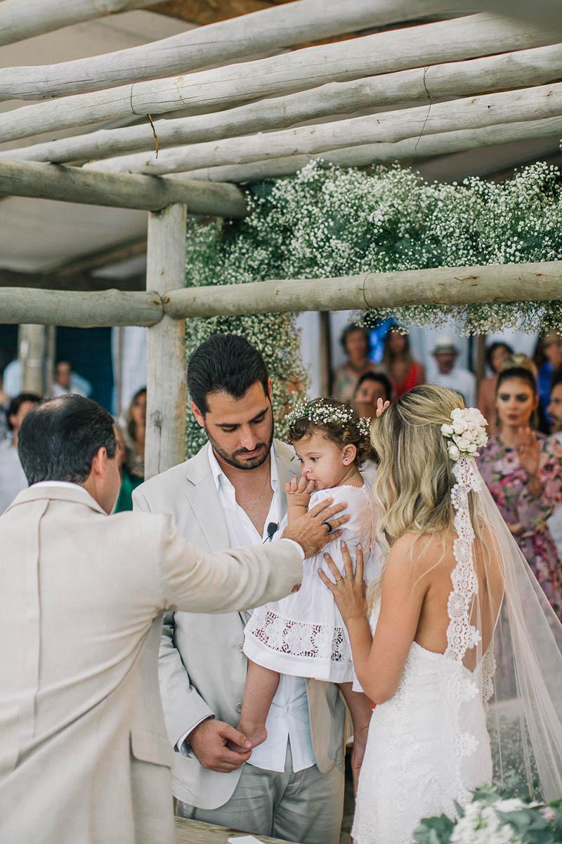 casamento na praia filha
