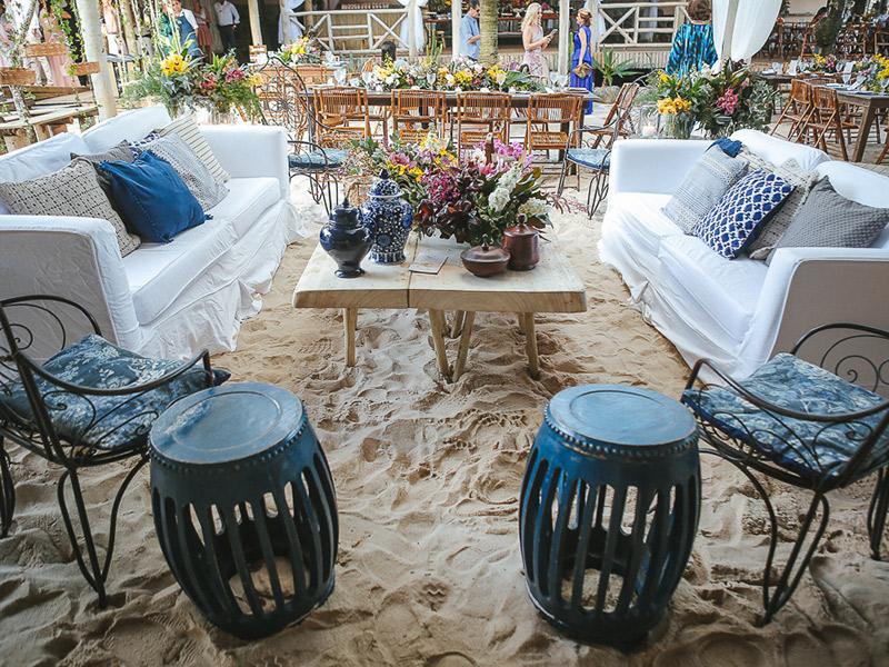 casamento na praia lounge