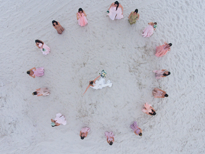 casamento na praia madrinhas