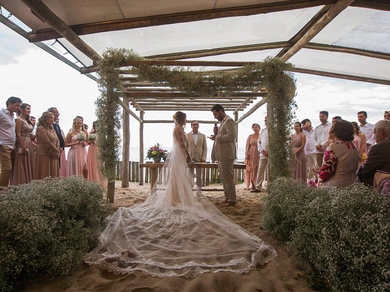 casamento na praia pé na areia