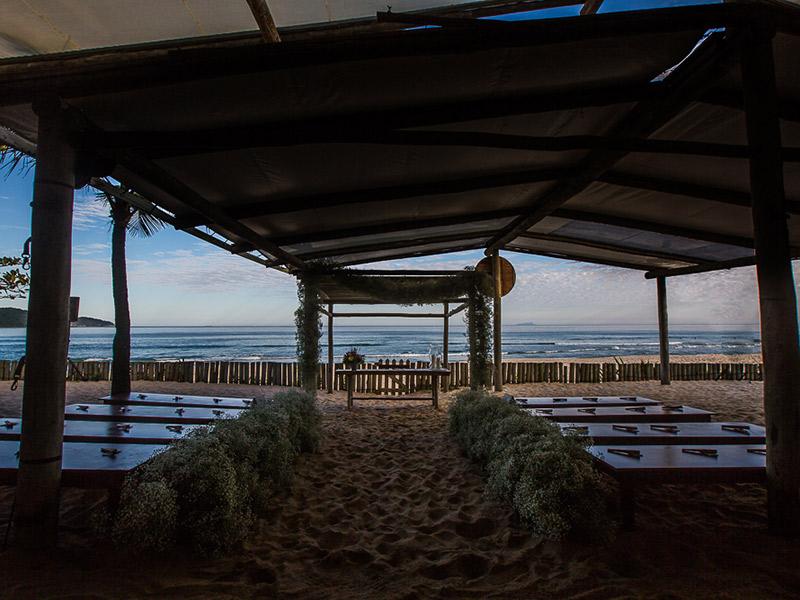 casamento na praia rústico