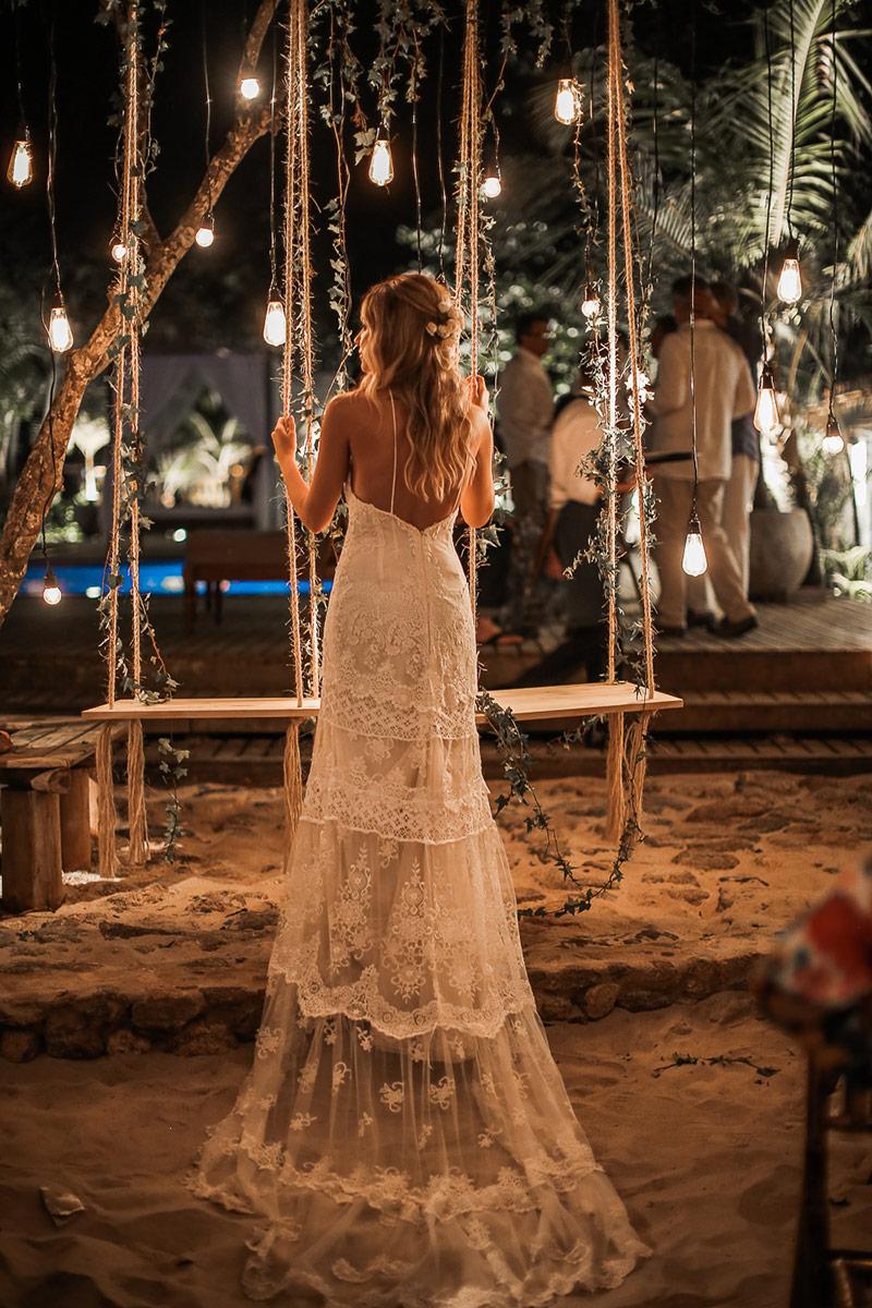 casamento na praia vestido renda