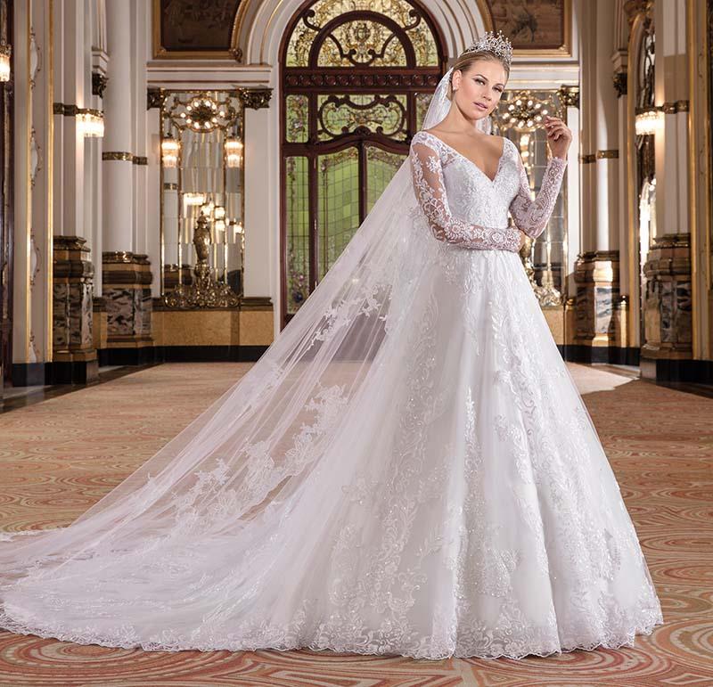 vestido de noiva para locação Nova Noiva