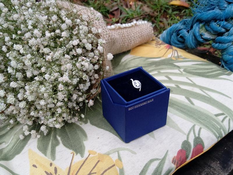 Casamento DIY anel de noivado