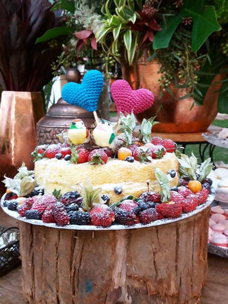 Casamento DIY bolo