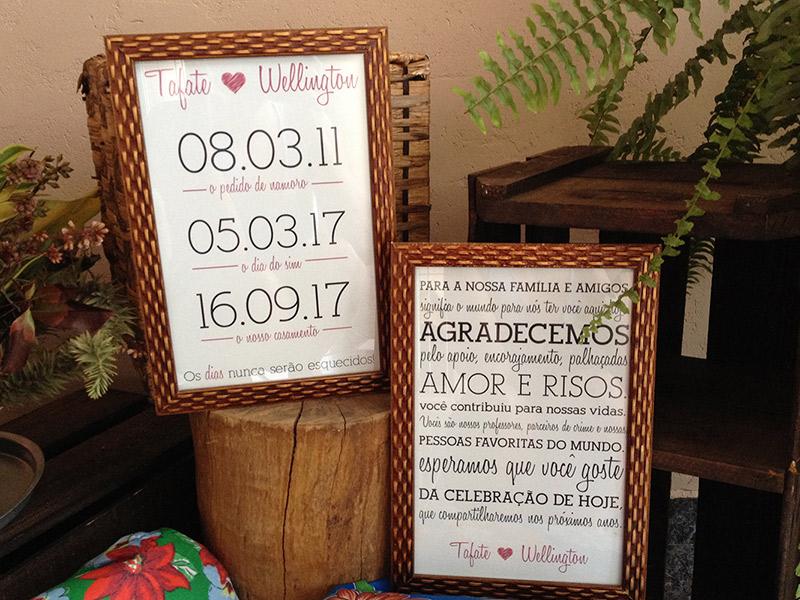 Casamento DIY decoração quadros de recado