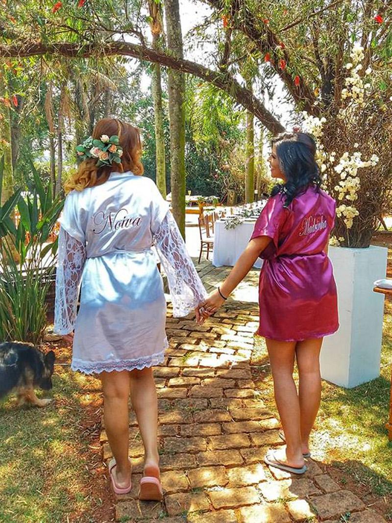 Casamento DIY noiva com madrinha