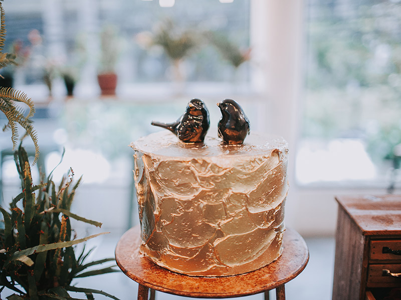 Casamento boho chic bolo de casamento