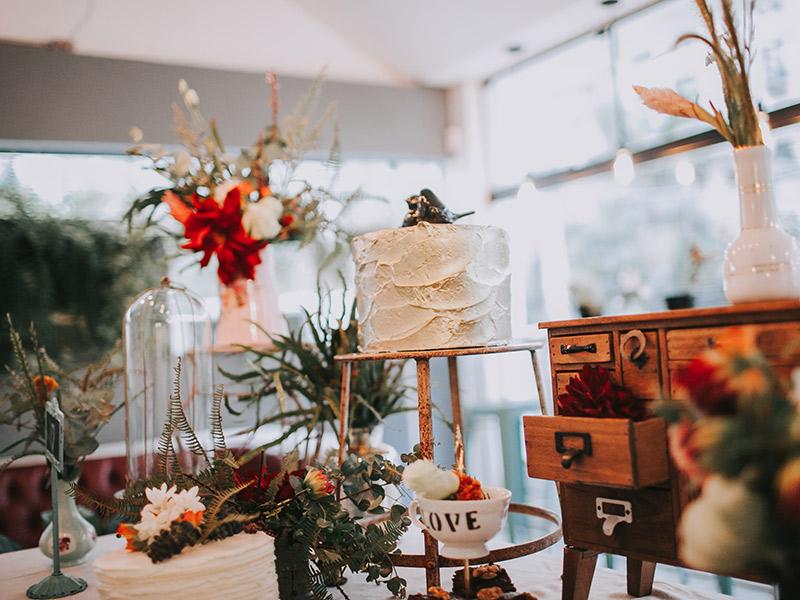 Casamento boho chic decoração mesa doce
