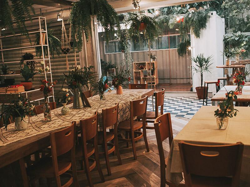 Casamento boho chic decoração mesas do jantar