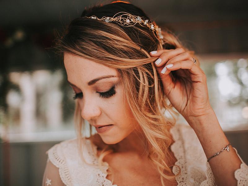 Casamento boho chic noiva maquiagem