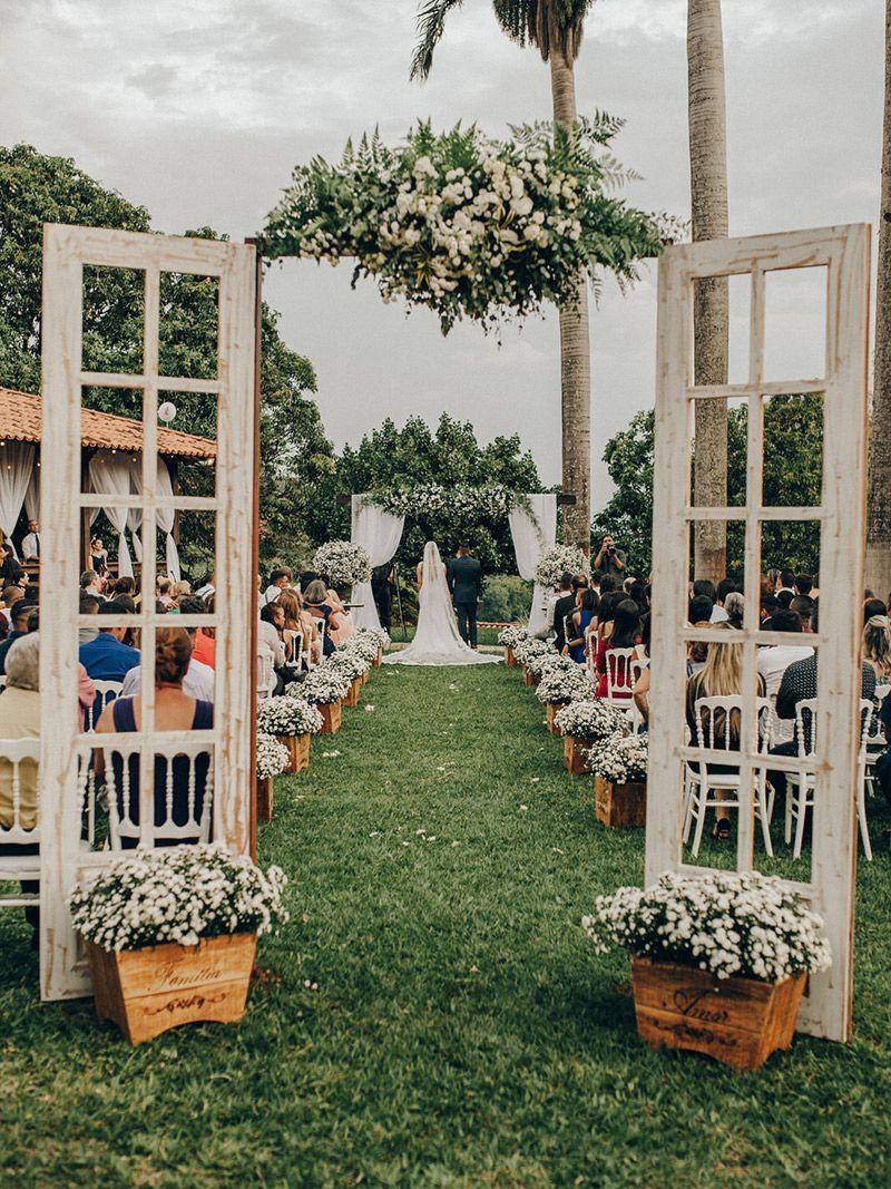 Tendência de decoração de casamento 2018 estilo natural