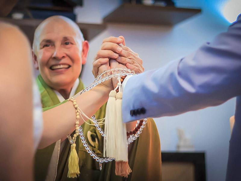 Votos de casamento cerimônia budista
