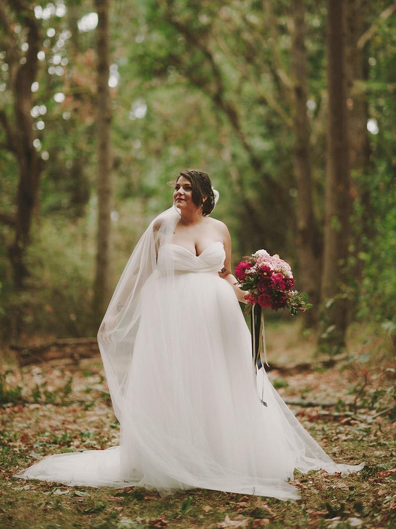 Vestido de noiva verde sonho