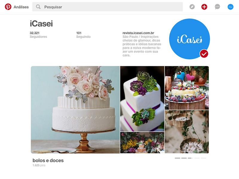Pinterest como abrir os painéis