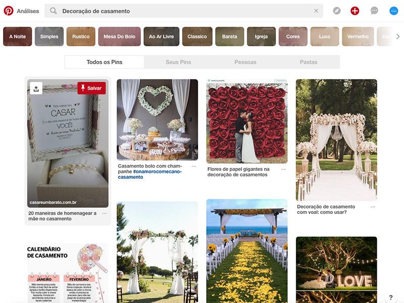 Pinterest como fazer busca de imagem