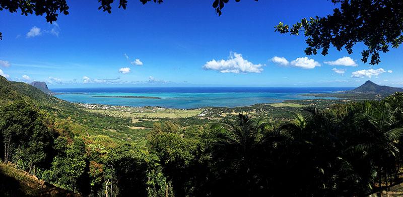 vista 180º ilhas maurício café chamarel