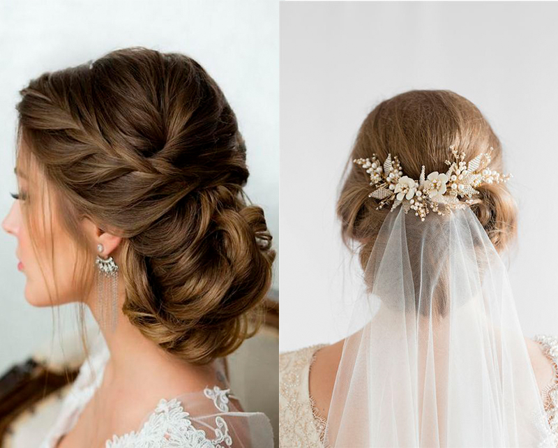 Penteados para noivas com coque