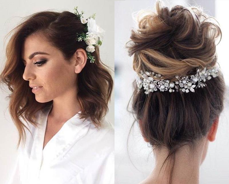 Penteados para noivas com acessórios