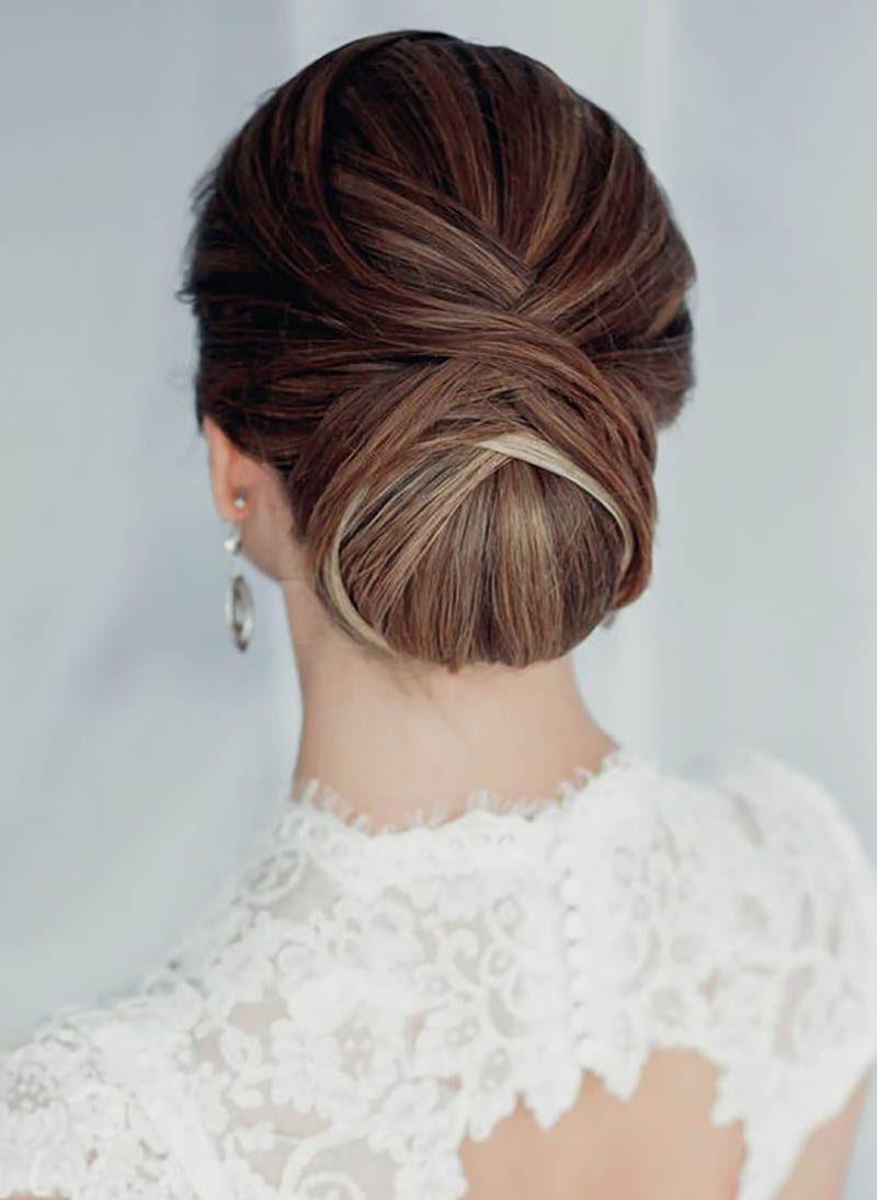 penteados para noivas coque baixo