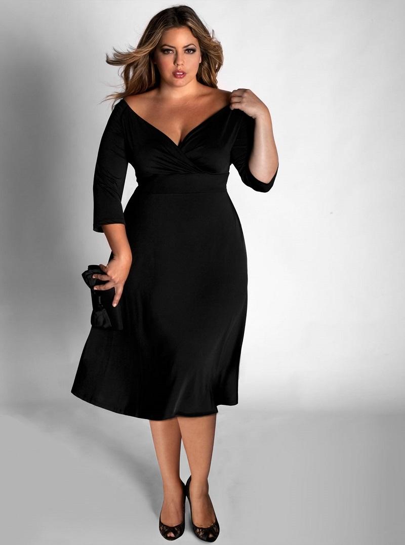 vestido-de-festa-preto-para-mulheres-plus-size