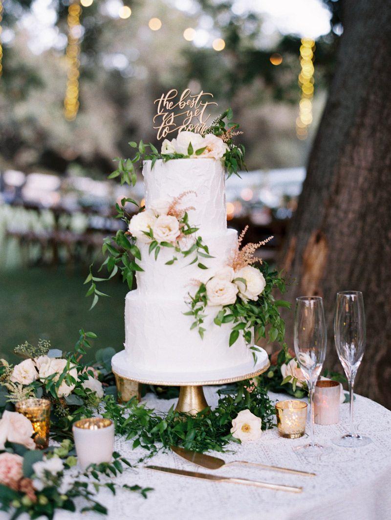 Bolo de casamento simples mini wedding
