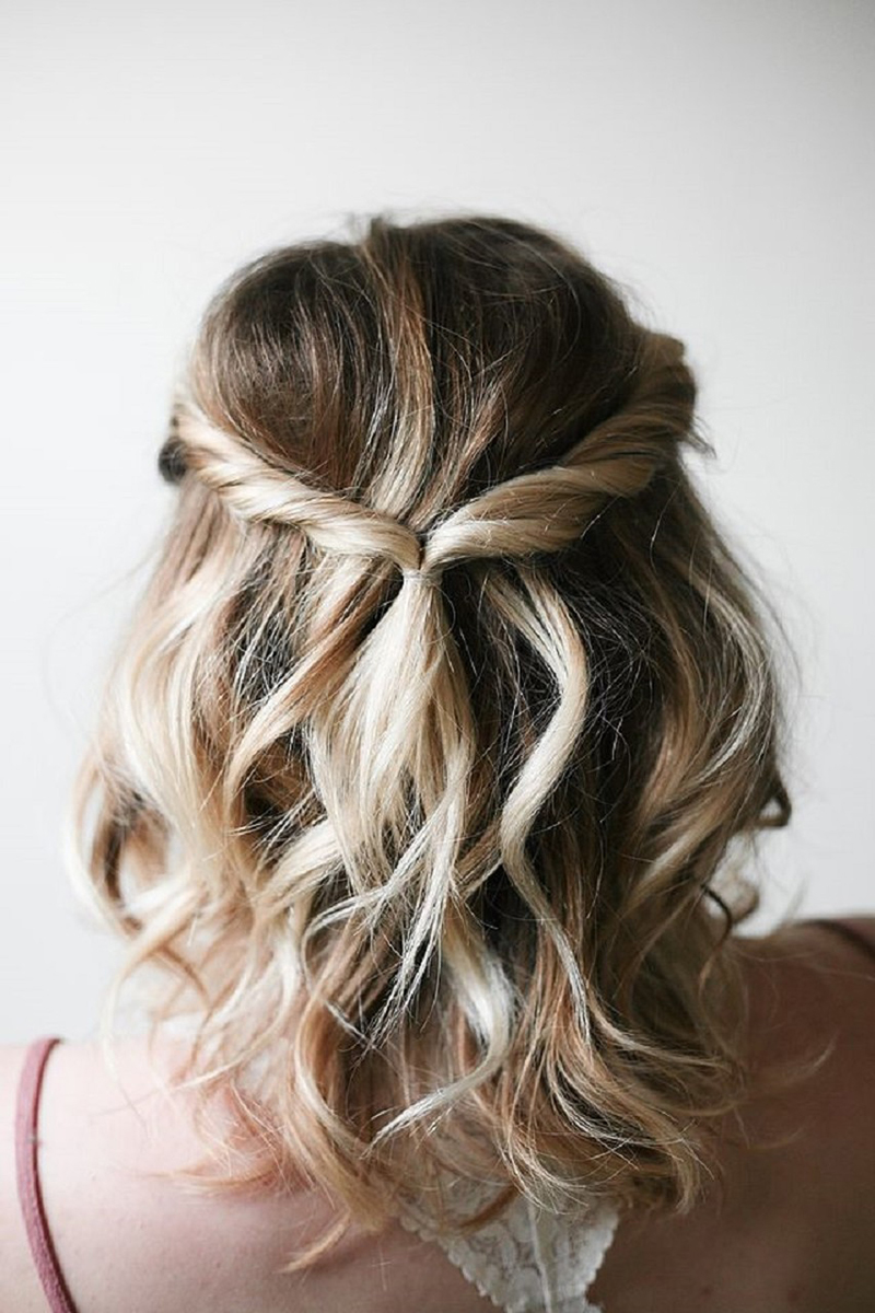 Penteados para cabelos curtos para casamento 2018