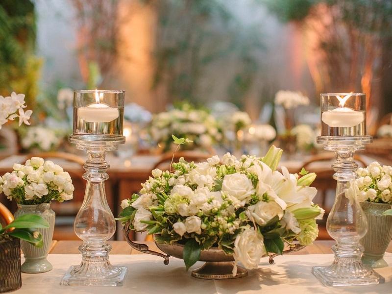 Decoraç u00e3o Simples de Mesa de Casamento -> Decoração De Mesa De Casamento Barato